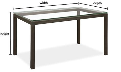 desk 40 inches long parsons custom dining table modern custom dining tables