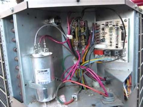 Bad Dual Run Capacitor Coleman Evcon Heat Pump Youtube