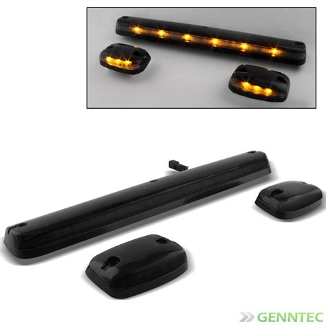 led cab lights chevy for 07 14 silverado sierra led smoked cab roof top running