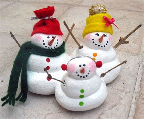 Salt-Dough Snowman Family