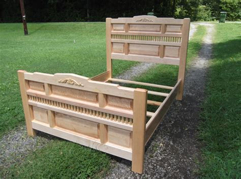 queen size maple bed woodworking blog  plans