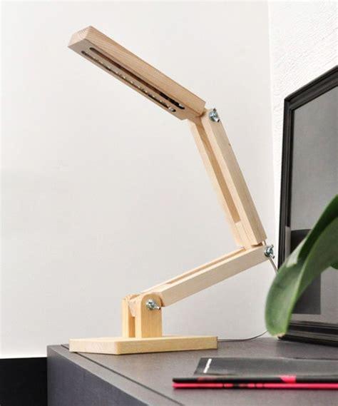 modern wooden led desk lamp  dotandbocom creative