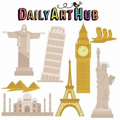 Landmarks Famous Clip Paper Dailyarthub Hub Daily