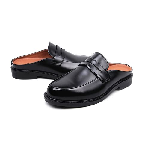 mens slip  penny loafer mules shoes