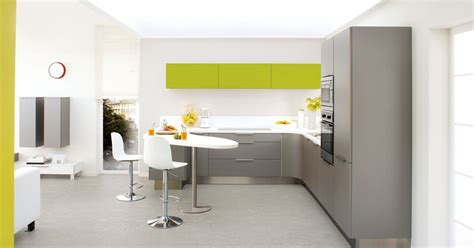 implantation cuisine ouverte cuisine ouverte color par cuisinella