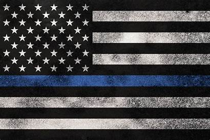 Flag Police Support Line Background Week Thin