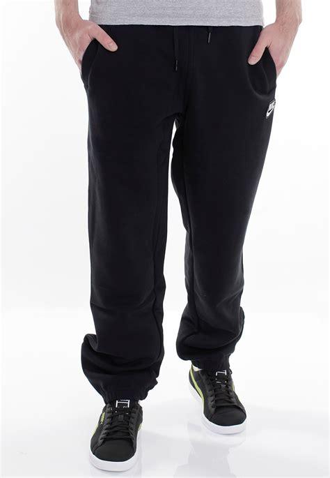 cuffed sweatpants for nike brushed cuffed black white sweat