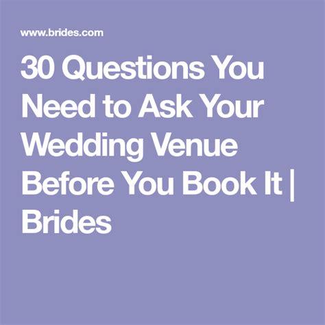 wedding venue questions     wedding