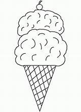 Template Ice Cream Coloring Cone Printable Pages Cones Clipart Sheets Clip Templates Printables Library Parlor Cliparts Cookie Sorvete Colorir Para sketch template