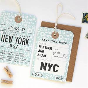 save the date tags labels original floral style luggage With get labels made