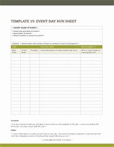 running sheet template for event fill online printable With event run sheet template