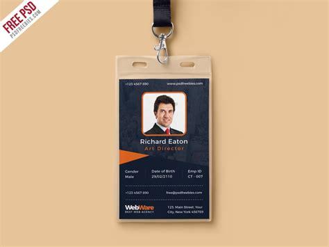 psd vertical company identity card template psd