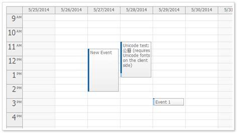 monthly event calendar aspnet mvc jquery open