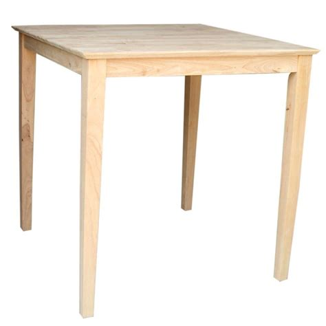 International Concepts Unfinished Pubbar Tablek363636s