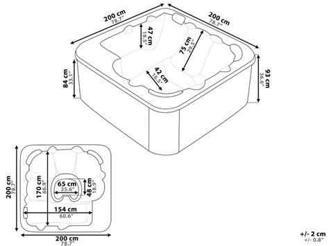 Whirlpool Tub Sizes by Dimensions Of Whirlpool Bathtubs Bathtub Ideas