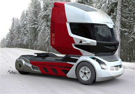 prototype semi trucks futuristic truck designs