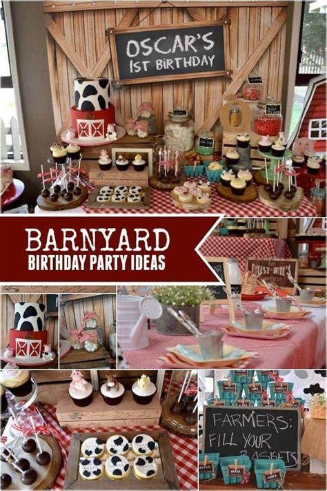 rustic barnyard themed birthday party st birthday