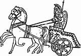 Chariot Coloring Roman Ancient Racing Horse Drawings Wecoloringpage Pulling sketch template