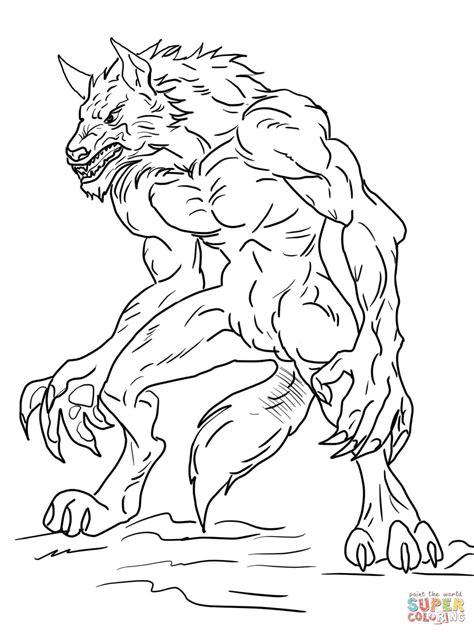 coloriage loup garou de ben  coloriages  imprimer
