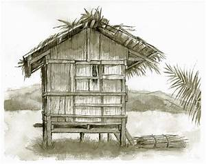 nipa house coloring pages