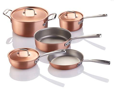 piece falk copper signature  chefs set copper cookware set cookware set copper kitchen