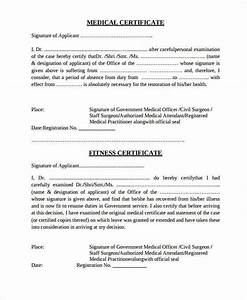 Example Of Medical Certificate For Sick Leave 35 Medical Certificate Templates In Pdf Free Premium