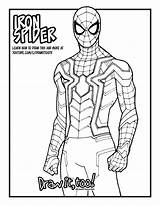 Spider Iron Infinity Avengers War Draw Drawing Tutorial Coloring Drawittoo Too sketch template