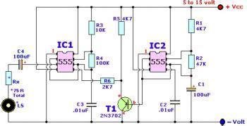 Wailing Alarm Siren Circuit Scheme