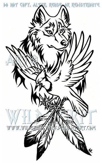 Tattoo Wolf Jay Wildspiritwolf Designs Bird Deviantart