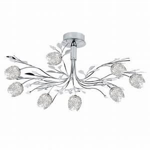 Lustre Led Leroy Merlin : lustre moderne adriana m tal chrome 8 x 20 w seynave ~ Dailycaller-alerts.com Idées de Décoration