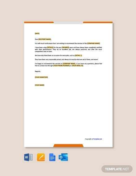 FREE Business Endorsement Letter Template - Word (DOC ...