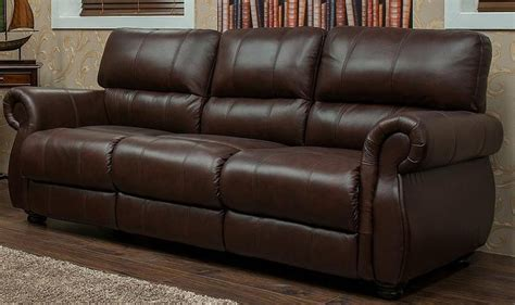 Chestnut Leather Sofa by Ascot 3 Seater Leather Sofa Chestnut Or Brown