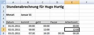 Arbeitszeit Mit Excel Berechnen : stundenabrechnung 2 excel ist sexy ~ Themetempest.com Abrechnung