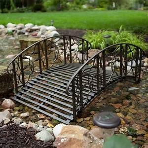 Coral coast willow creek 4 ft metal garden bridge for Metal garden bridge