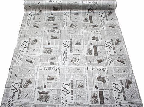 Vintage Vinyl Upholstery by Designer Vintage Retro Newspaper Print Faux Leather Vinyl