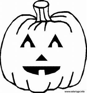 Visage Citrouille Halloween : coloriage citrouille avec visage dessin ~ Nature-et-papiers.com Idées de Décoration