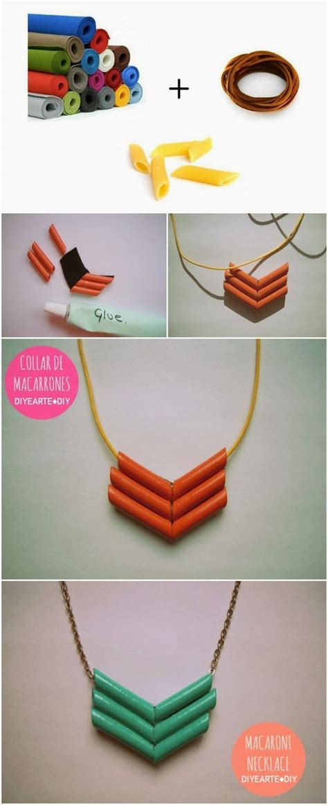 and craft ideas collars macaroni and necklaces on 7283