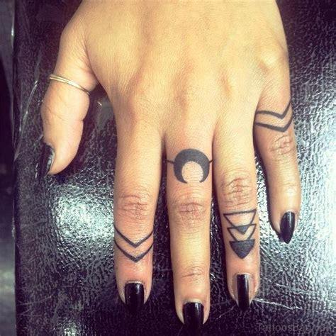 lovely moon tattoos  finger