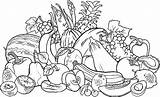 Coloring Vegetable Garden Pages Printable Fruits Getcolorings sketch template