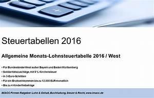Lohnsteuer 2016 Berechnen : lohnsteuertabelle 2017 pdf kostenlos ratgeber lohnsteuertabellen ~ Themetempest.com Abrechnung