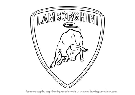 lamborghini logo sketch step by step how to draw steamer from hoze houndz