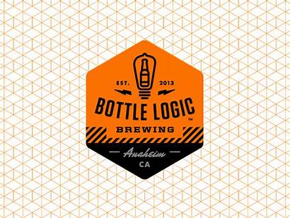 Logic Bottle Shield Dribbble Version Office Amateur