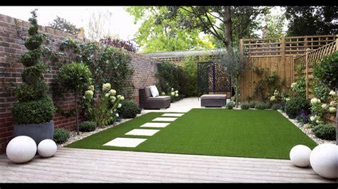 ideas de diseno de hierba artificial de jardin pequeno
