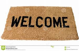 Welcome Mat Stock Photo - Image: 6778130