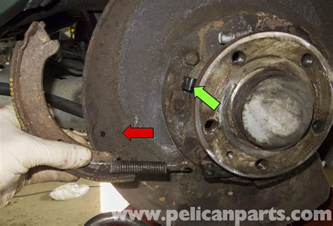 volvo  parking brake shoes replacement