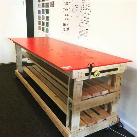 rolling workbench  scavenged materials including