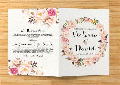 wedding event program templates psd vector eps ai