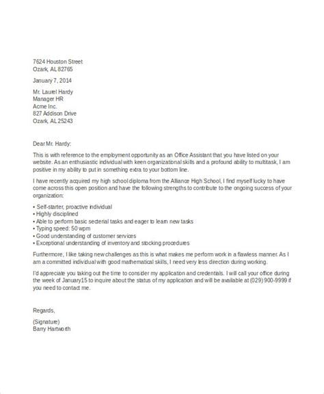 Sle Applications For High School Students by Student Application Letters 8 Free Word Pdf Format