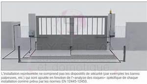 Moteur Portail Electrique : motorisation portail battant 230v 2 3m par vantail 650easyx ~ Premium-room.com Idées de Décoration
