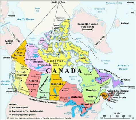 Carte Du Monde Canada by Carte Du Canada Departement Carte Du Monde Departement